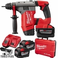 "Milwaukee 2715-22HD M18 Fuel 1-1/8"" Sds Plus Rotary Hammer 3x 9.0 Batts"