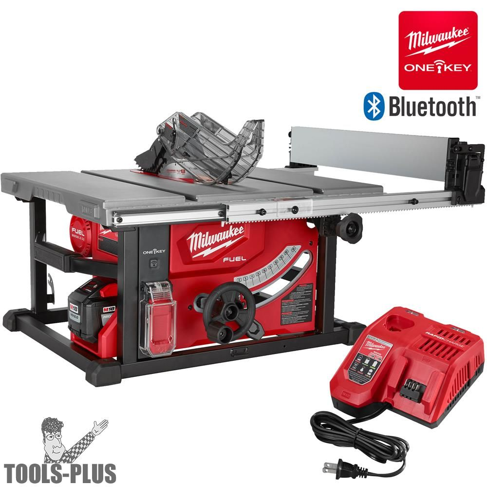 Milwaukee 2736 21hd M18 Fuel 8 1 4 Table Saw One Key Kit 12 0ah Battery