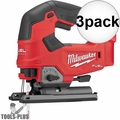 Milwaukee 2737-20 M18 FUEL Cordless D-Handle Jig Saw (Tool Only) 3x