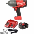 "Milwaukee 2763-20 M18 FUEL 1/2"" Impact w/ Hog Ring Inc. Batt & Charger"