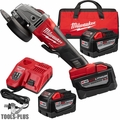 "Milwaukee 2780-22HD M18 Fuel 4-1/2""/5"" Grinder Paddle No-Lock 3x 9.0 Batts"