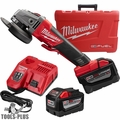 "Milwaukee 2783-22HD M18 Fuel 4-1/2""/5"" Braking Grinder High Demand Kt 2x 9.0"