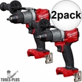 "Milwaukee 2804-20 M18 FUEL 1/2"" Hammer Drill/Driver (Tool Only) 2x"