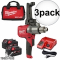 Milwaukee 2810-22 M18 FUEL Mud Mixer with 180 Deg. Handle Kit 3x