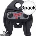 "Milwaukee 49-16-2450 M12 1/2"" Press Tool Jaw 3x"
