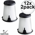 Milwaukee 49-90-1950 HEPA Filter Replacement for 0850-20 Compact VAC 12x 2pk