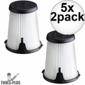 Milwaukee 49-90-1950 HEPA Filter Replacement for 0850-20 Compact VAC 5x 2pk