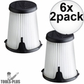 Milwaukee 49-90-1950 HEPA Filter Replacement for 0850-20 Compact VAC 6x 2pk