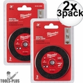 "Milwaukee 49-94-3000 3"" Metal Cut Off Wheel 2x 3pk"