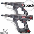 "Senco DS212-18V 18V 2500rpm 2"" DuraSpin Auto-feed Screwgun +2 Batt Chrgr 2x"