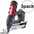 "Senco F-16A Cordless 2 1/2"" Angled Finish Nailer 3x"