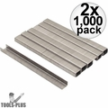 """Stanley TRA704SST 1000 Pack 1/4"""" Stainless Steel Narrow Crown Staples 2x"""