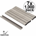 """Stanley TRA704SST 7x 1000pk 1/4"""" Stainless Steel Narrow Crown Staples"""