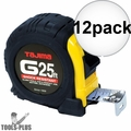 "Tajima G-25BW 1"" x 25' Shock Resistant Tape Measure 12x"