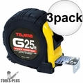 "Tajima G-25BW 1"" x 25' Shock Resistant Tape Measure 3x"