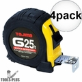 "Tajima G-25BW 1"" x 25' Shock Resistant Tape Measure 4x"