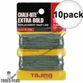 "Tajima PL-ITOL 100 ft .04"" Bold Braided Replacement Chalk Line 10x"