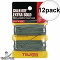 "Tajima PL-ITOL 100 ft .04"" Bold Braided Replacement Chalk Line 12x"