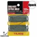 "Tajima PL-ITOL 100 ft .04"" Bold Braided Replacement Chalk Line 8x"