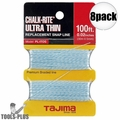 "Tajima PL-ITOS 100 ft .02"" Ultra Thin Braided Chalk Line 8x"