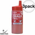Tajima PLC2-R300 10.5oz 300g Micro Powder Ultra Fine Snap Line Chalk Red 3x