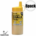 Tajima PLC2-Y300 10.5oz 300g Micro Powder Ultra Fine Line Chalk Yellow 8x