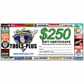 Tools Plus 0250 $250 Gift Certificate