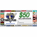 Tools Plus 0050 $50 Gift Certificate