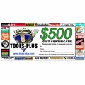 Tools Plus 0500 $500 Gift Certificate