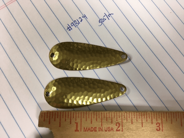 2-1/4 Hammered Polished Brass
