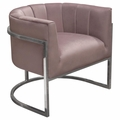 Atlas Pink Fabric Accent Chair