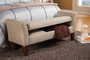Beige Wood Storage Bench