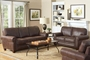 Bentley Brown Fabric Loveseat