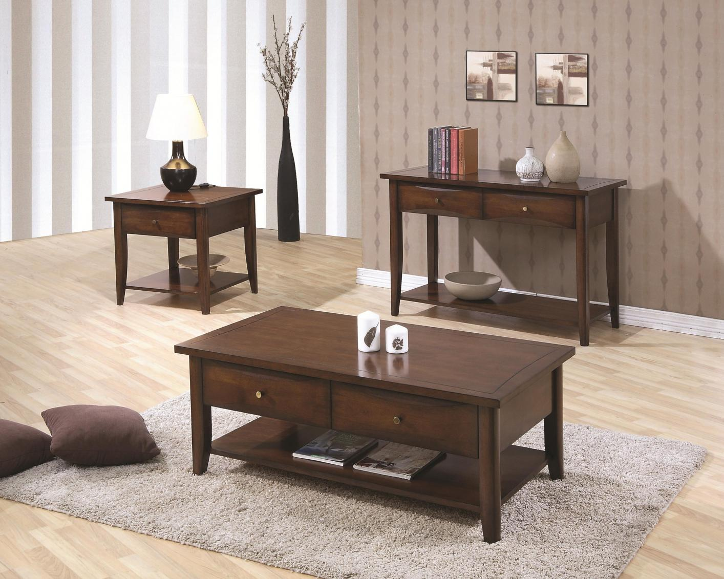 bentley brown wood coffee table 44 Coaster Coffee Table With Storage Drawers