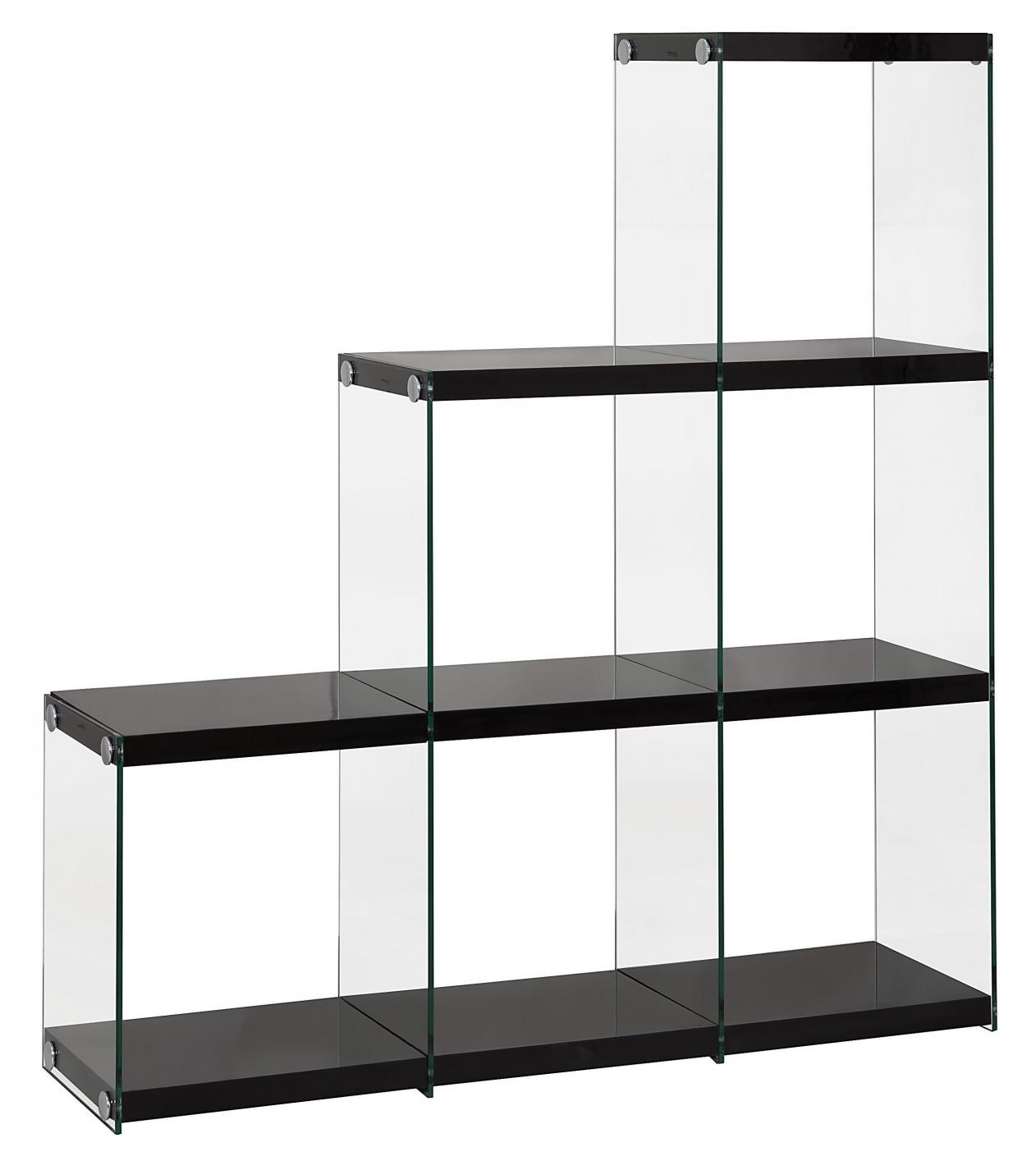 Black Glass Bookcase