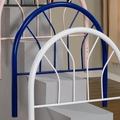 Blue Metal Headboard