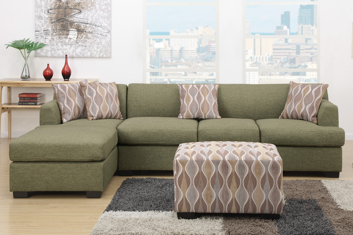 Green Fabric Chaise Lounge Steal A Sofa Furniture Outlet Los