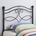 Grey Metal Headboard