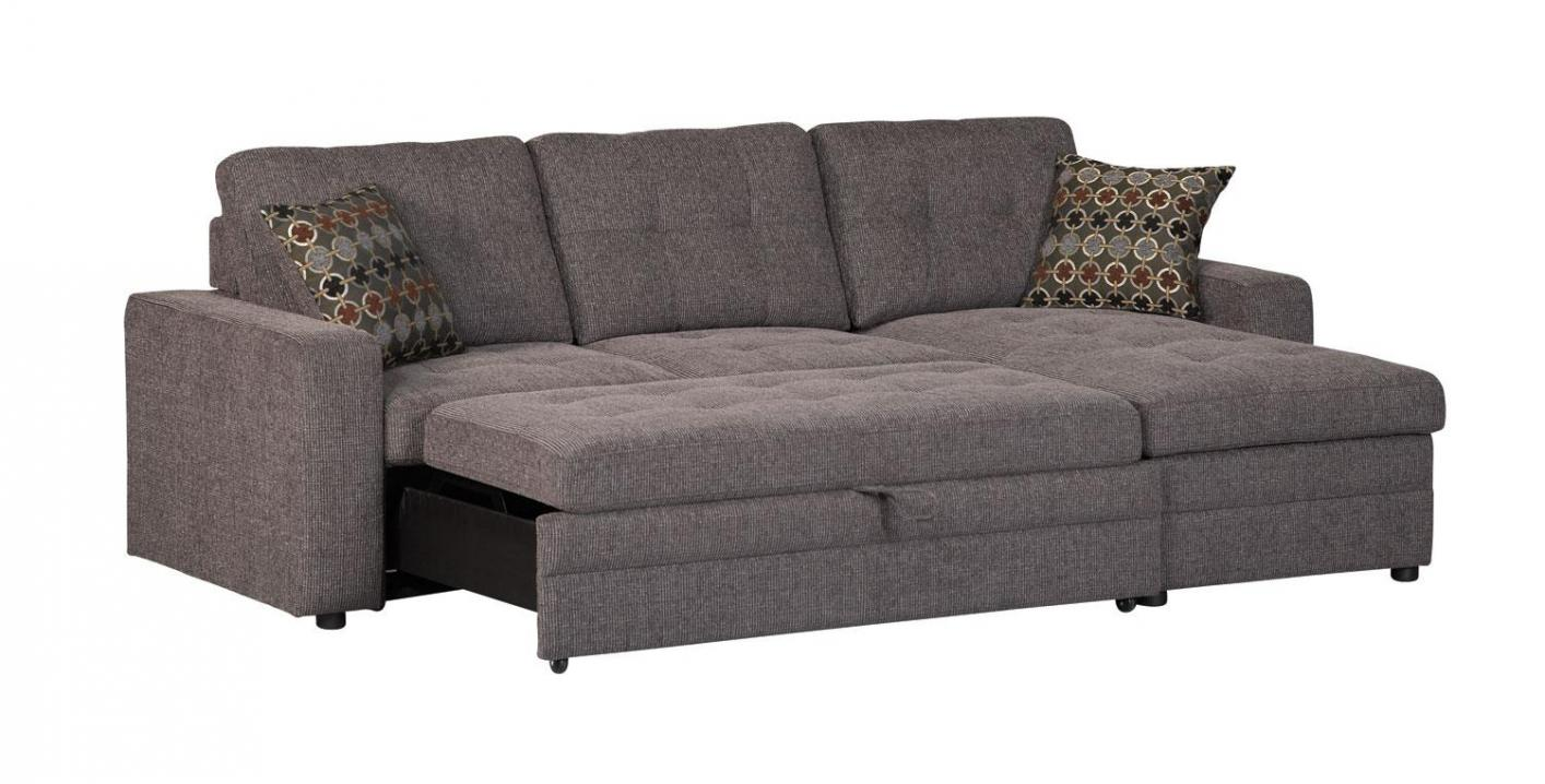 Black Fabric Sectional Sleeper Sofa Steal A Sofa