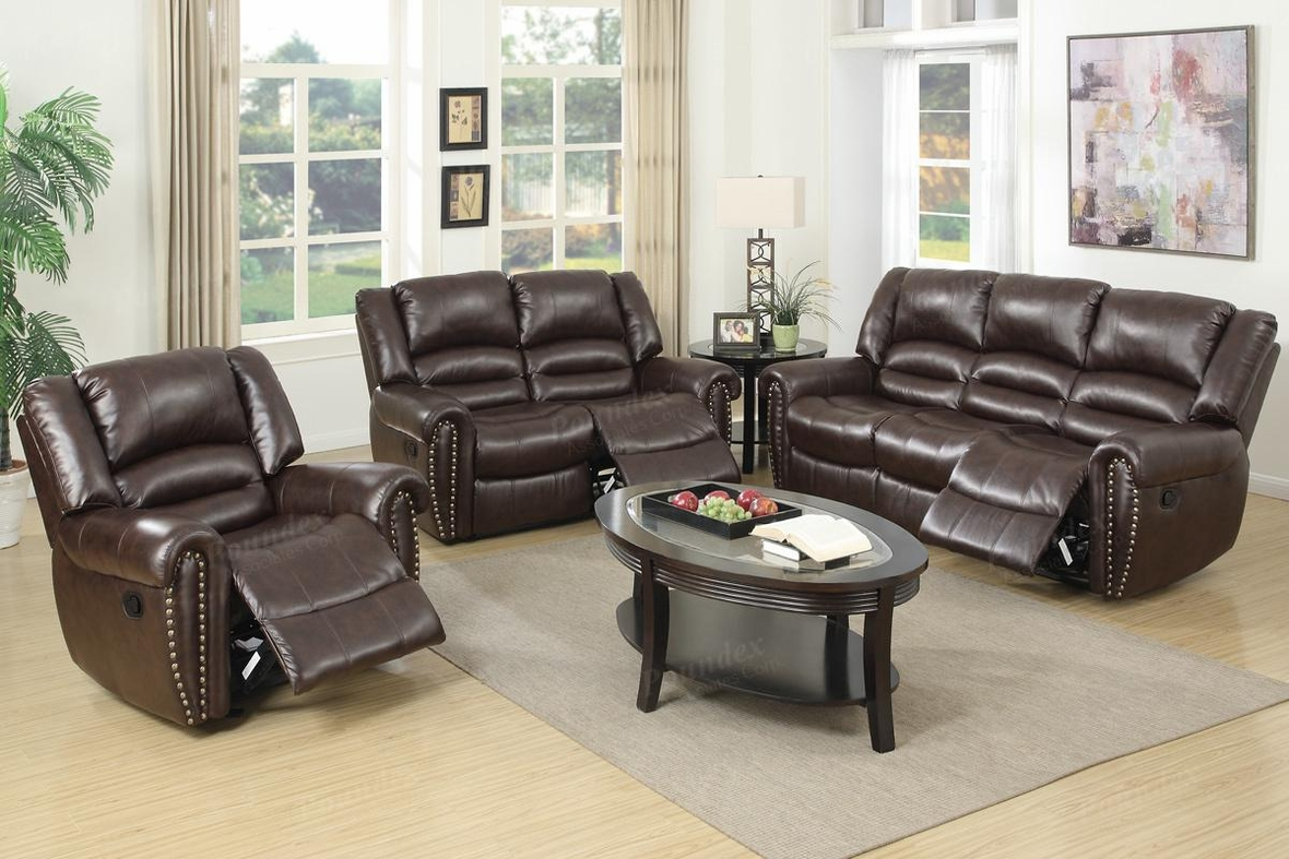 Brown Leather Reclining Sofa Steal A Sofa Furniture