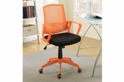 Orange Fabric Office Chair