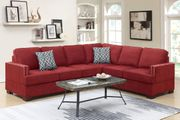 Red Fabric Sectional Sofa