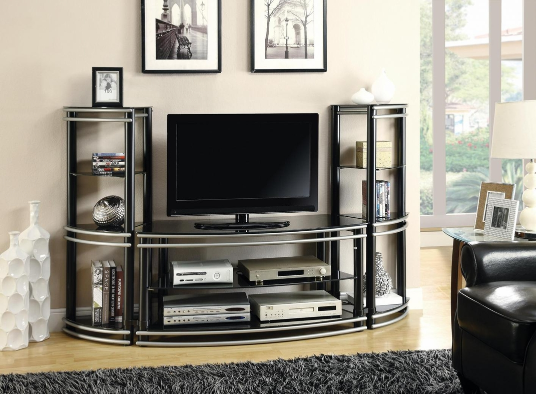 Silver Metal Tv Stand Steal A Sofa Furniture Outlet Los