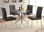 Vance Silver Metal Dining Table