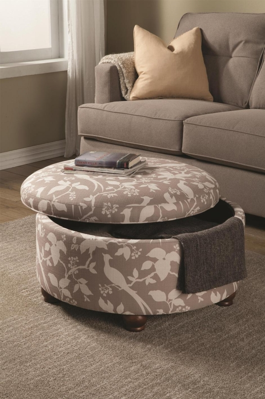 White Fabric Ottoman Steal A Sofa Furniture Outlet Los