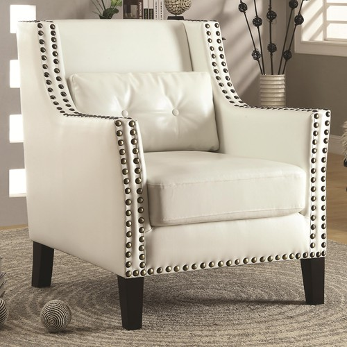 Fabulous Chair White Leather Accent Chair Modern Ibusinesslaw Wood Chair Design Ideas Ibusinesslaworg