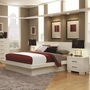 White Wood Bed