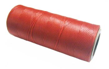 Waxed tie string 100 yard RED