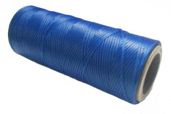 Waxed tie string 100 yard BLUE narrow