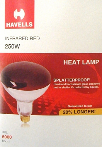 Brooder Heat Lamp Bulb, Red   250 watt